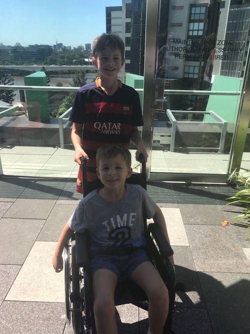 Quinn Reibelt was just six when he suffered a stoke.