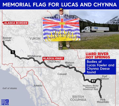 On July 15, 2019, the bodies of Lucas Fowler, 23, and Chynna Deese, 24, were found on the side of the road, 20 kilometres south of Liard Hot Springs.