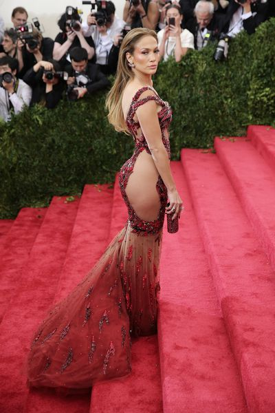 Jennifer Lopez in Versace at the'China: Through The Looking Glass Costume Institute Benefit Gala at the Metropolitan Museum of Art in New York, May, 2015