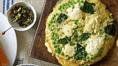 "Recipe:&nbsp;<a href=""http://kitchen.nine.com.au/2016/05/19/10/47/ricotta-and-pea-frittatas"" target=""_top"">Ricotta and pea frittatas</a>"