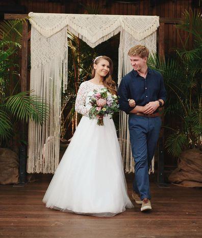 Bindi Irwin and Robert Irwin at her wedding day.