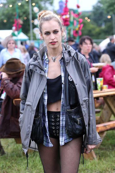 The imperfect bun, spotted on Alice Dellal.
