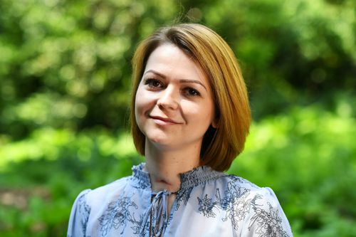 Skripal and his daughter Yulia (pictured) were found slumped on a public bench in the English city of Salisbury in March