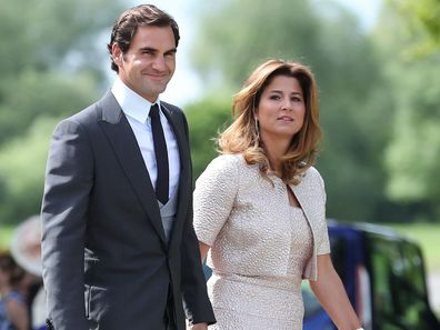 Roger Federer and his wife Mirka arrive ahead of the wedding of the Duchess of Cambridge's sister Pippa Middleton to James Matthews.