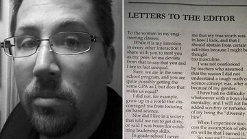 Male engineering student pens open letter to female peers about sexism