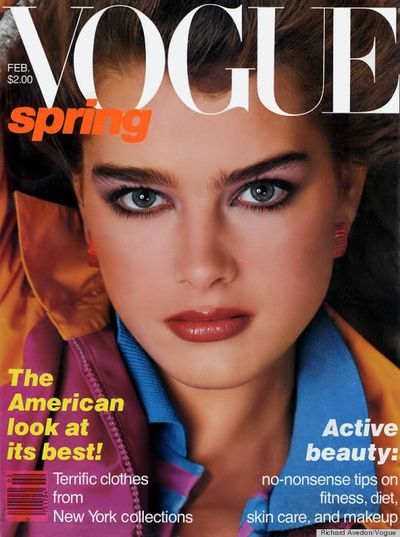 Brooke scored her first Vogue cover aged just 14, and went on to appear another 13 times.