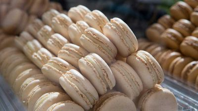 Mountains of macarons at Melbourne's Ladurée