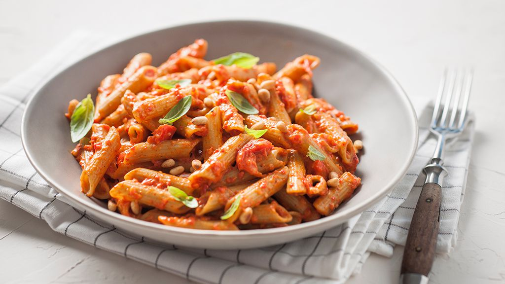 Creamy vegan capsicum pulse penne recipe by San Remo