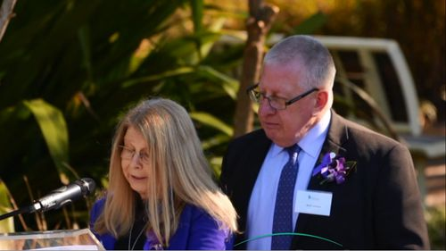 Faye and Mark Leveson spoke at Missing Persons Remembrance Day at the Doorway of Hope in Sydney.