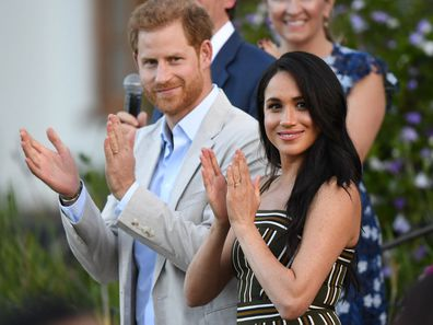 Prince Harry and Meghan Markle in Cape Town