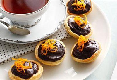 Choc-orange tartlets