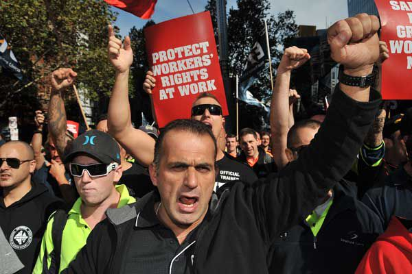 CFMEU protests against Grocon