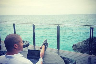 @blakegarvey: Always nice to have an office with a view #workhardplayhard #ayanaresort #rockbarbali