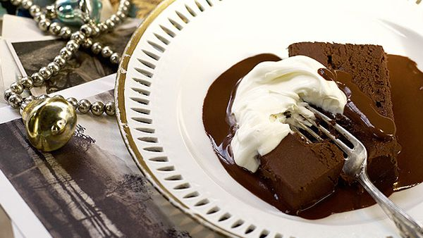 Chocolate and chestnut terrine