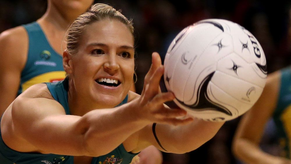 Caitlin Bassett and the Diamonds will face New Zealand. (AAP)