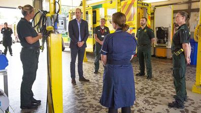 Prince William visits Kings Lynn Ambulance at Queen Elizabeth Hospital in first public appearance following covid-19 pandemic