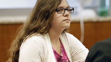 Anissa Weier, listens as former teachers testify during her trial in Waukesha County Court, in Waukesha, Wisconsin.