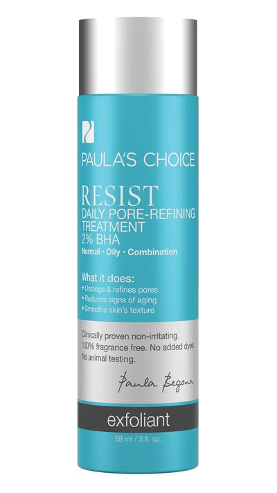 "<p><a href=""http://www.paulaschoice.com.au/shop/skin-care-categories/aha-and-bha-exfoliants/_/Resist-Daily-Pore-Refining-Treatment-Two-Percent-BHA/"" target=""_blank"">Resist Daily Pore Refining Treatment 2% BHA, $38, Paula's Choice</a></p>"