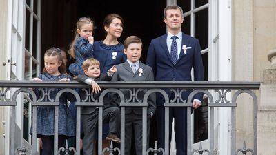 Princess Mary and her family celebrate Queen Margrethe's 75th Birthday, April 2015