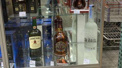 Giant bottles of alcohol