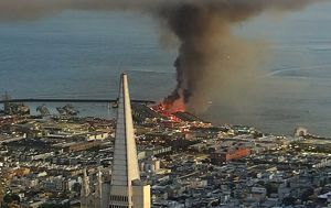 Firefighters battle massive fire on San Francisco's Pier 45