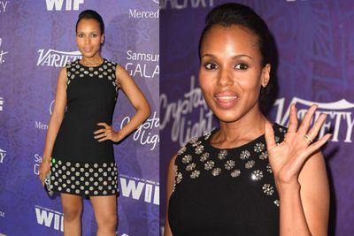 Kerry's cute take on a little black dress is far from a <i>Scandal</i>.