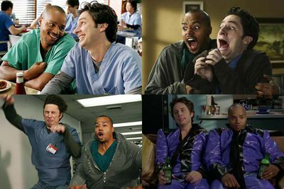 """J.D. and Turk are possibly TV's most screen-grabbable bromantics, and their musical tribute to their 'Guy Love' says it all: """"It's like I married my best friend, but in a totally manly way."""""""