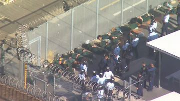 A fight broke out at Long Bay Jail hospital today.