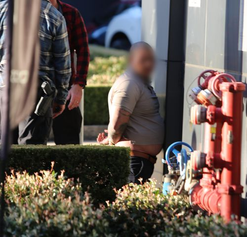 One of the three men was charged with a string of offences by police. Picture: NSW Police