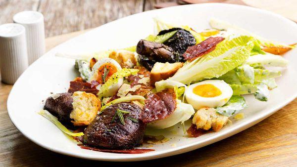 Mushroom Caesar salad
