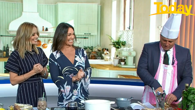 Today host Karl Stefanovic served as sous-chef.
