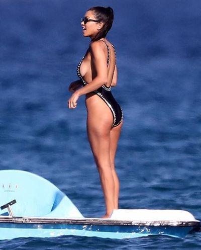 Kourtney Kardashian on vacation in Italy, July, 2018