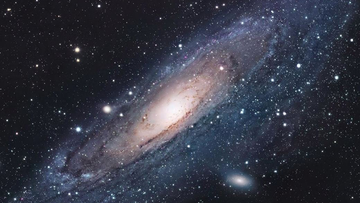 Astronomers predict that in about four billion years, the Andromeda galaxy will collide with our own galaxy, the Milky Way. The Andromeda galaxy is our largest and closest neighbor in the universe.