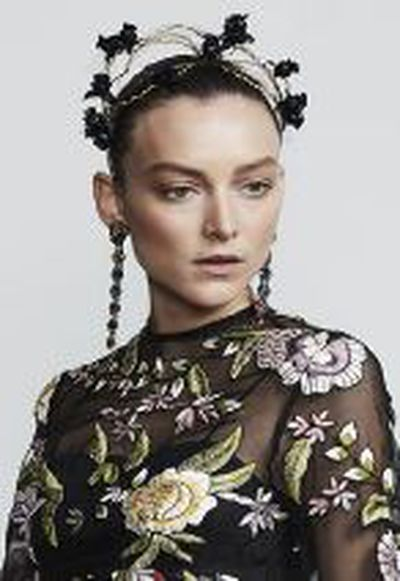 """<strong><a href=""""https://suzyorourke.com.au/collections/headbands?page=1"""" target=""""_blank"""" draggable=""""false"""">Suzy O'Rourke</a></strong> Rosa Crown, $490<br>"""