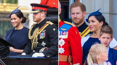 Prince Harry attends Trooping the Colour, June 2019