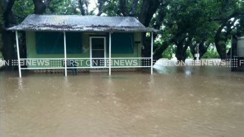 Flood waters have forced an evacuation of the area around the Daly River. (9NEWS)