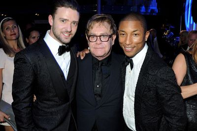 Justin Timberlake, Elton John and Pharrell Williams. Cute!