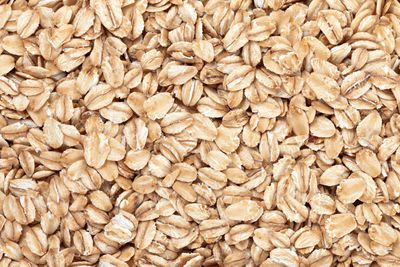 Rolled oats: 4.5g fibre in half a cup