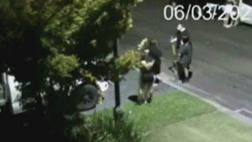 Security video revealed one party goer armed themselves with a shovel.
