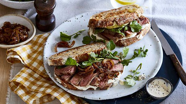 Curtis Stone steak sandwich