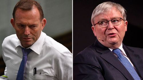 Malcolm Turnbull has slammed fellow former prime ministers Tony Abbott and Kevin Rudd in a leaked speech.