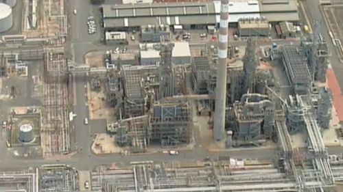 Injured worker rescued from pipe track at refinery