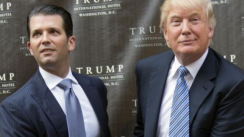 President Donald Trump and his eldest son Donald Trump Jr.