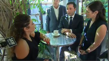 Matthew Guy unknowingly visits café owned by drug criminal