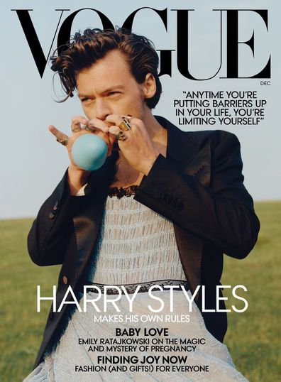 Harry Styles, Vogue cover, wears dress