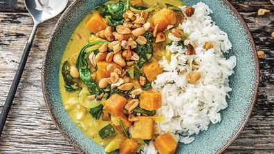 Thai pumpkin yellow curry