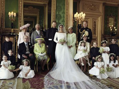 Meghan Markle and Prince Harry's royal wedding official family portrait at Windsor Castle.