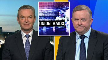 TODAY: Pyne and Albo clash over AWU raids tipoff