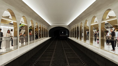 Le Terminus will be a subterranean dining hall across two platforms.