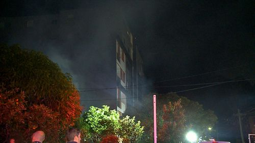 Early investigations suggest the fire may have been deliberately lit. Picture: 9NEWS